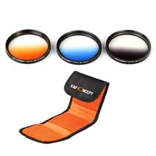 K&F Concept 77mm 3pcs Graduated Filter Kit Grey Blue Orange