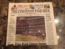 Pete Rose (Newspaper) - Rose Comes Home - 9/24/02 - Cincinnati Enquirer