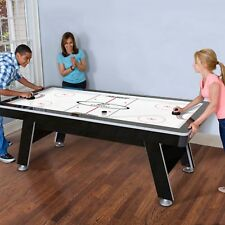 """84"""" Air Powered Hockey Table Game Room Indoor Sport Electronic Scoring 2 Pushers"""