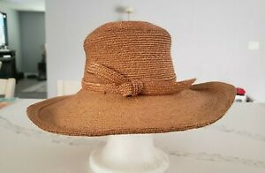 Vintage Charcoal Gray Waxed Linen Staw Sun Hat by Frank Olive