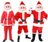 SANTA CLAUS MASCOT COSTUME FATHER CHRISTMAS SUIT MENS XMAS OUTFIT FANCY DRESS