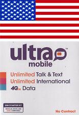 Ultra mobile USA, New, SIM card. NANO, MICRO or STD size. For USA.
