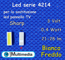 10 Led serie 4214 per ricambio retroilluminazione TV Sharp  3V 0,4W 21-28LM