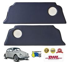 Volkswagen VW Beetle 1300-1303 Rear Seat Kick Panel Cover Kit L+R Navy Blue