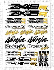 Ninja Racing ZX-6R Motorcycle Decals Fairing ZX6R Laminated Stickers