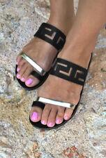 Women Casual Flat Slides Sandals Comfy Flip Flop Toe Post Slippers US Sizes 6-10