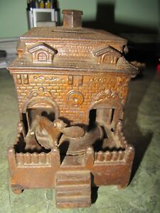 Dog on Turntable Antique Iron Mechanical Bank (parts)