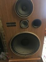 """Pair Of Vintage Pioneer 3- Way Speakers Tested CS-G303 27""""X15""""X12"""""""
