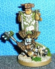 Warhammer 40k Squat Lord w/ Guard Dog - Painted Dwarf King Conversion