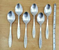 """LOT OF 6 VTG TO ANTIQUE RUSSIAN🇷🇺 MHU SILVERPLATE """"8 3/8""""TABLE SERVING SPOONS"""