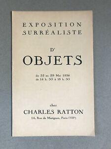 exposition surréaliste d'objets charles ratton 1936 surréalisme André breton