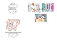 FDC Suisse - Timbres poste spéciaux 4.9.1987