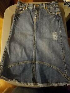 Children's Place Girls Long Denim Skirt Size 8