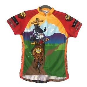 """Voler  """"BackRoads"""" Mens Full Zip Cycling Jersey Size Large"""