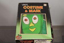 """Vintage 80's Ben Cooper """"GUMBY"""" Vinyl Costume & Mask Halloween Tiny Tot 2-3"""