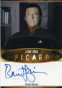 EL VHTF Star Trek Picard S1 Autograph card Brent Spiner as Data Bordered
