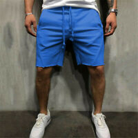 Men's Casual Shorts Elastic Waist Comfy Workout Shorts Drawstring with Pockets