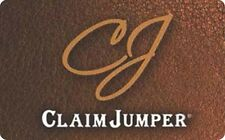 Claim Jumper Gift Card - $25 $50 $100 - Email delivery