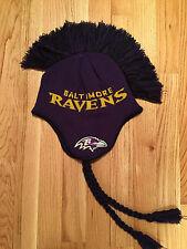 NWT NFL Mohawk Knit Baltimore Ravens Tassel Men's/Youth Beanie $28