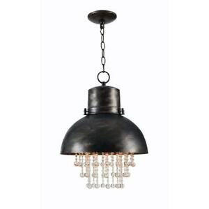 Kenroy Home Nicole 1-Light Faux Corroded Pendant