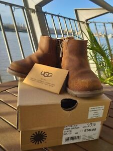 UGG brown suede leather boots Infant Size 6