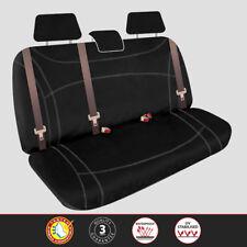 Mitsubishi Triton Dual Cab 2015-Onward Rear Black Custom Neoprene Seat Covers