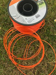 """Genuine Stihl Strimmer Wire / Cord 2.4mm / .095"""" x 12m Orange"""