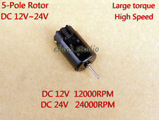 DC12V~24V 24000RPM High Speed Large Torque Micro Carbon Brush Motor For Toy DIY
