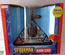 SPIDER-MAN ALARM CLOCK-LCD DISPLAY with AWESOME SOUND EFFECTS & SPEECH-2004-NEW