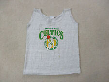 Vintage Boston Celtics Shirt Adult Small Gray Green Nba Basketball Mens 90s *