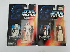 1995 star wars  Ben Obi-Wan & Stormtrooper on card FRENCH