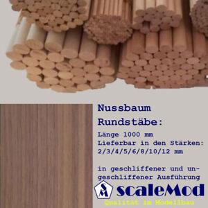Scale Rundstäbe Nussbaum 4,0 mm Länge 1000 mm VE 1 Stk (1 EUR/m)