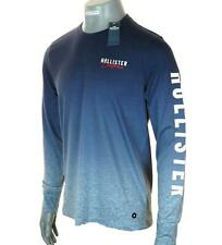 New Men's Authentic Hollister Long Sleeve T Shirt Embroidered Logo Graphic L XL