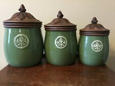 New ListingGiardino by Fitz & Floyd Canister Set of 3, Complete With Lids.