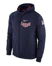 USA Basketball Nike Full Zip Hoodie Jacket - Navy Blue Women's Large