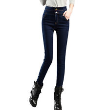 Women High Waisted Stretch SKINNY Fit Denim Jeans Jeggings Pants Size 8-18 Deep Blue 6