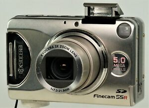 Kyocera Finecam S5R 5mp Digital Compact, Battery & Charger. GWO