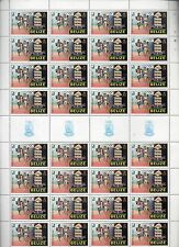 BELIZE STAMPS 84 LOS  ANGELES SUMMER OLYMPIC GAMES  SHEET 32 X $1 .0 RUNNING