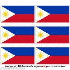 Filippine filippino Bandiera Filippine 40mm MOBILE CELLULARE MINI Adesivi X6
