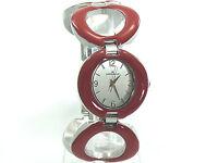 ANNE KLEIN WOMEN RED LINK BRACELET DRESSY WATCH 8769RDSV RETAIL $95 BRAND NEW