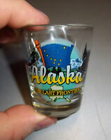 Alaska Shotglass Dog Sled Team & Orca The Last Frontier - nice shot glass