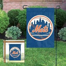 "MLB New York Mets Embroidered Garden Window FLAG NEW 15"" x 10.5"""