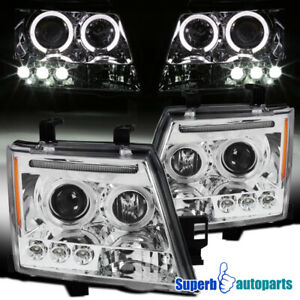 For 2005-2012 Xterra LED Halo Projector Headlights Lamps 05-12 Replacement Pair