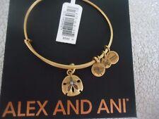 ALEX and ANI SAND DOLLAR III Russian Gold Charm  Bangle New W/Tag Card & Box