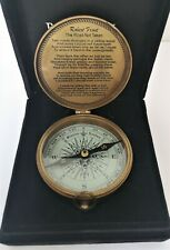 Vintage Compass Brass Compact from Bombay New in Box