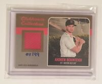 2019 Topps Heritage Andrew Benintendi  Patch Auto Numbered #/99 Boston Red Sox