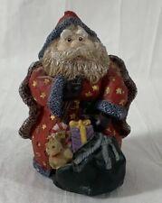 Santa Claus 3.5 Inch Figurine Star Cape Beautiful Christmas Figure Porcelain