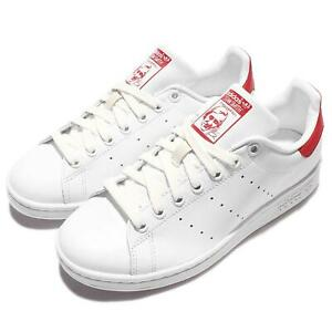 NEW IN BOX ADIDAS ORIGINALS STAN SMITH CLASSIC RED SHOES SNEAKERS MEN WHITE