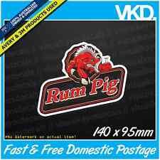 Rum Pig Sticker/ Decal - Bundy Bear Bar Funny Beer Bogan Ute 4x4 Straya Aussie