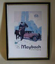 Maybach Plakat Poster-Der Neue Maybach m. Schnellgang-m. Rahmen Reprint  258.6.1